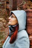 Woman with hood Stock Image