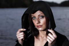 Woman in hood Stock Photography