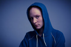 Woman in a Hoodie - Attitude Royalty Free Stock Images