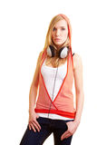 Woman with hoody Royalty Free Stock Photography
