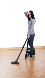 Woman with hoover Stock Image