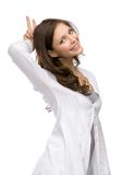 Woman horns gesturing Royalty Free Stock Photos
