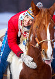 Woman with horse Royalty Free Stock Photography
