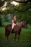 Woman and horse Royalty Free Stock Photos