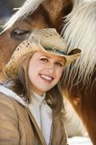 Woman with horse. Royalty Free Stock Image