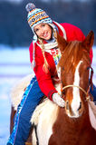 Woman with horse Royalty Free Stock Photo