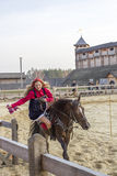Woman on the horse Stock Image