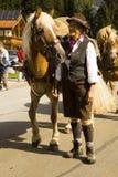 Woman horse Oktoberfest in Gerlos Austria royalty free stock photo