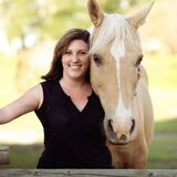 Woman and horse portrait Royalty Free Stock Image