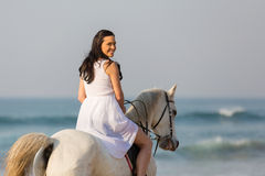 Woman horse ride Stock Photos