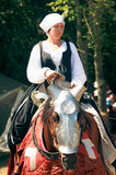 Woman on  horseback Royalty Free Stock Photos