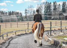 Woman horseback riding Royalty Free Stock Image