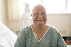 Cancer Woman Lying In Hospital Bed Stock Photo 54329556