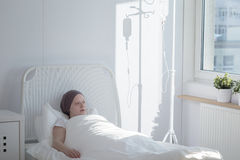 Woman in a hospital Stock Image