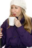 Woman with hot chocolate Stock Photo