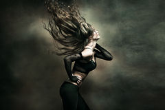 Woman hot dance royalty free stock photo