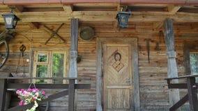 Woman house key door stock video footage