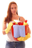 Woman housecleaning. Stock Photography
