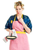 The woman the housewife Stock Photo