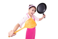 Woman housewife cooking Stock Photos