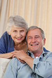 Woman hugging her husband Royalty Free Stock Photography