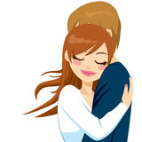 Woman Hugging With Tender Love Royalty Free Stock Image