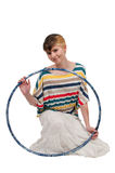 Woman with Hula Hoop Stock Images