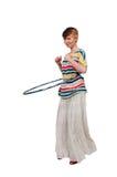 Woman with Hula Hoop Royalty Free Stock Photo