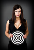 Woman human target Royalty Free Stock Images