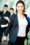Woman in a hurry Stock Photo
