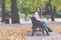 Woman at Hyde Park Royalty Free Stock Photos
