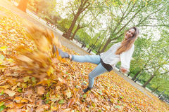 Woman at Hyde Park Royalty Free Stock Image