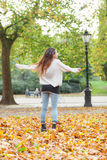 Woman at Hyde Park Royalty Free Stock Photography