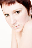 Woman with hypnotizing look royalty free stock photo