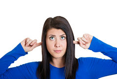Woman, I'm not listening Royalty Free Stock Image