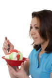 Woman with ice cream Royalty Free Stock Photos