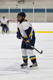 Woman ice hockey player during a game Royalty Free Stock Photo