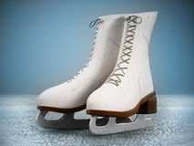 Woman ice skate Royalty Free Stock Images