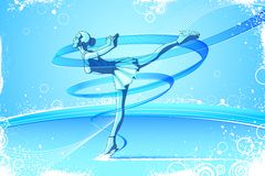 Woman Ice Skater Royalty Free Stock Photos