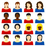Woman icon Stock Photography
