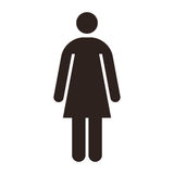 Woman icon Royalty Free Stock Photography