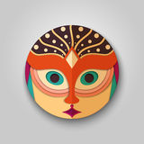 Woman icon in mask design Stock Images