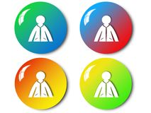 Woman icon, sign, illustration Royalty Free Stock Photography