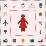 Woman icon symbol . Elements for your design vector illustration