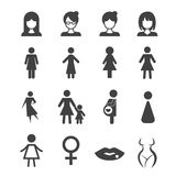 Woman icon Royalty Free Stock Photo