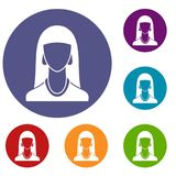 Woman icons set Royalty Free Stock Photo