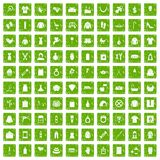 100 woman icons set grunge green. 100 woman icons set in grunge style green color isolated on white background vector illustration Royalty Free Illustration
