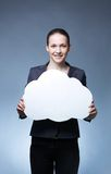 Woman with idea Stock Photography