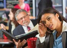 Woman Ignoring Business Man Stock Photo