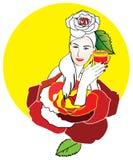 Woman illustration Stock Image